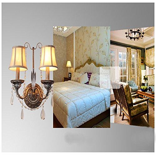 5151BuyWorld Kaarsen, K9, gesmede kristal, wandlamp, ijzer, vintage, creatief, eenvoudige manier, decoratie, slaapkamer, nachtkastje, licht, 2 lampen