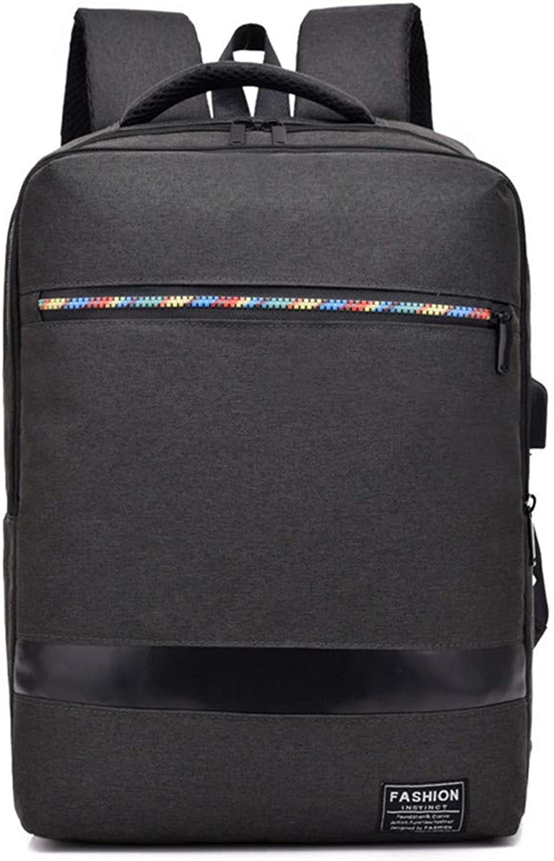 Fashion Backpacks Laptop Backpack Camera Backpack Men's Backpack Large Capacity Computer Backpack Ms. 15.6  Business Computer Bag (color   Black)
