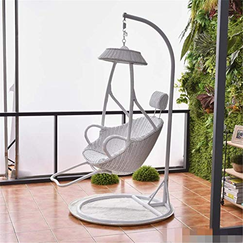 N/Z Living Equipment Schaukelstühle Indoor Schaukel Hängesessel Vogelnest Hängekorb Wicker Stuhl Single Cradle Chair (Farbe: Braun Größe: 95x195cm)