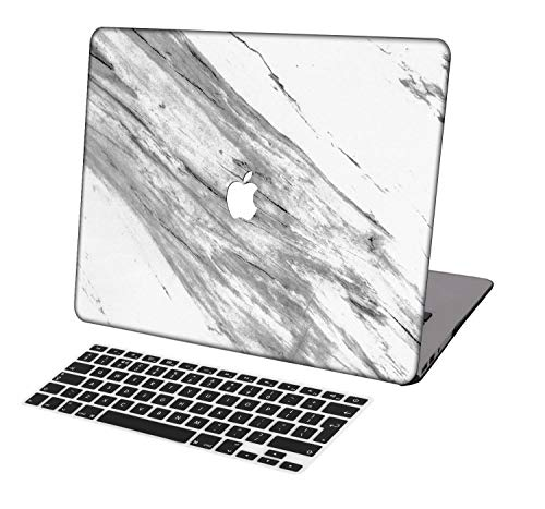 Laptop Case for MacBook Air 13 inch Model A1369/A466,Neo-wows(2 in 1 Bundle) Plastic Ultra Slim Light Hard Shell Cover UK Keyboard Cover Compatible MacBook Air 13 Inch No Touch ID,Marble A 73