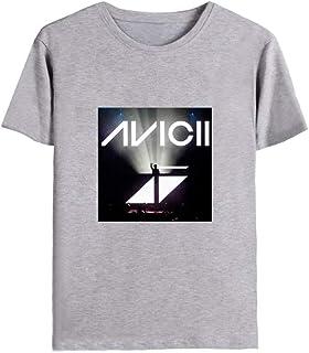 JJZHY Famosa Maglietta da Uomo DJ Avicii in Cotone con Stampa a 6 Colori