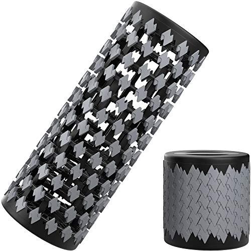 Readaeer Platzsparende einziehbare Faszienrolle   Massagerolle   Yogarolle   Schaumstoffrolle   Foam Roller zur Fitness und Massage (Grau)
