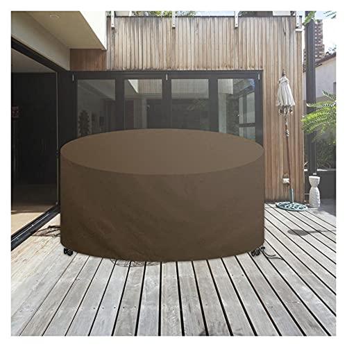 Funda Protectora Mesa Jardin,420D Paño Oxford Funda Protectora para Mesa de Comedor Redonda,Impermeable Protección UV Funda para Muebles de Jardín