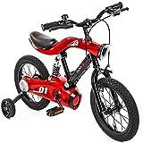 ECO REMAI Kinder 4-Rad Vollkettenschutz Fahrrad mit LED-Beleuchtung Übung Baby-Anti-Rollover...