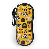 sherry-shop Ropa deportiva Gafas de sol Estuche blando con clip para cinturón, Estuche protector para gafas con cremallera de neopreno suave y ligero, 17cm × 8cm