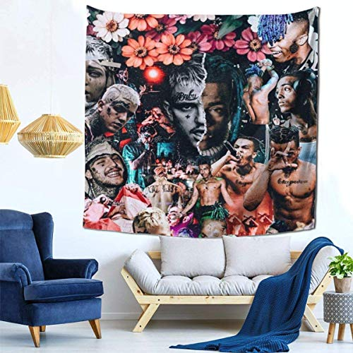 Tengyuntong Tapestry Wall Hanging XXX tentacion Lil Pe-ep Art Tapestry Decoración de pared para Living Room Dorm Home (51 x 60 pulgadas, 130 x 152 cm)