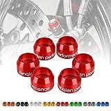 YIEBA Accesorios de Motocicleta Cubierta de Tapa de Agujero de Marco de Aluminio CNC para Todos Los Modelos Paquete de 6 Piezas Rojo