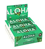 ALOHA Organic Plant Based Protein Bars |Chocolate Mint | 12 Count, 1.9oz Bars | Vegan, Low Sugar, Gluten Free, Paleo, Low Carb, Non-GMO, Stevia Free, Soy Free, No Sugar Alcohols
