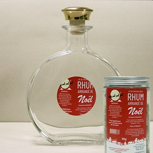 Floralpina karaf leeg 750 ml + rum gearrangeerd Kerstmis