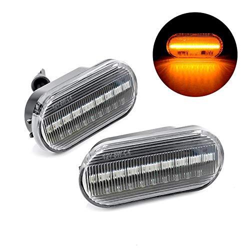 ONEVER 2 Stück LED Dynamische Seitenmarkierung Blinklicht Blinklicht