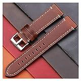 Correa de reloj Correas de reloj de cuero genuino vintage Cinturón de 7 colores 18 mm 20 mm 22 mm 24 mm Mujeres Hombres Correa de reloj Correa Accesorios de reloj Correa de reloj de 22 mm (marrón