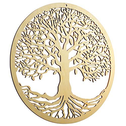 ZenVizion 13.5' Tree of Life Wall Art, Sacred Geometry Home Decor, Meditation Symbol, Yoga Hanging Artwork, Laser Cut Wooden Wall Sculpture, Wealth, Prosperity, Abundance, Gift