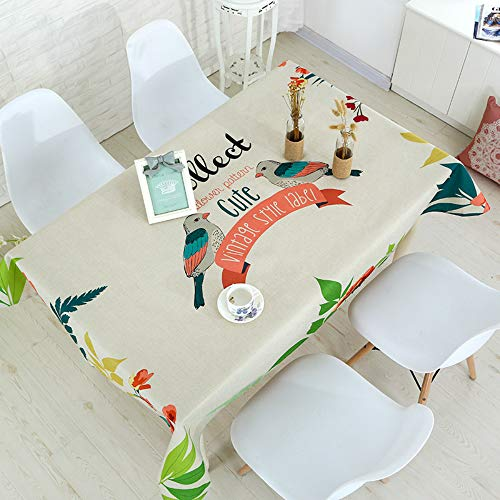 YOUYUANF tablecloth linen tablecloth water resistant tablecloth casual meal Cushion43x43cm
