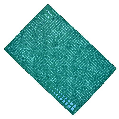 ATPWONZ A3 Alfombrilla de Corte Multifuncional - 5 Capas de Sándwich Núcleo PVC Superficie de Autocuración Corte Doble Cara Impresión 30 x 45 cm (Verde)