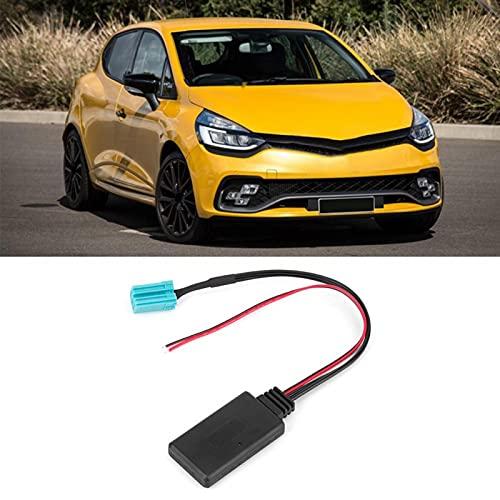 Cable estéreo de radio inalámbrico, adaptador AUX de 12 V y 6 pines compatible con Bluetooth 4.1/4.0/3.0/2.0 apto para Renault Clio (modelos 2005 a 2011)