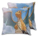 Funda de almohada cuadrada Pokemon Dragonite pequeña mochila segura para sofá cama, silla decorativa 45 x 45...