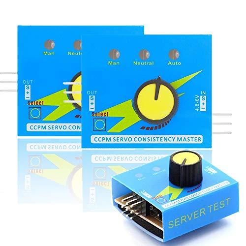 LUOWAN 2PCS Servo Tester digital CCPM Multi Tester 3CH für Servos und ECSs Drehzahl- und Stromregler kompatibel mit Arduino inklusive E-Book