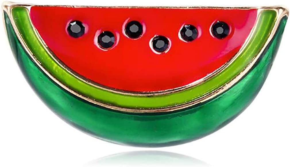 DearAnswer Womens Watermelon Pattern Brooch Pin Badge for Clothes Bags Backpacks Lapel Pin