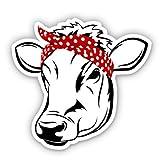 GT Graphics Express Farm Cow Pretty - 3' Vinyl Sticker - for Car Laptop Water Bottle Phone - Waterproof Decal