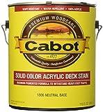 Cabot 1806-07 Decking Stain, 1 Gallon, Neutral Bas