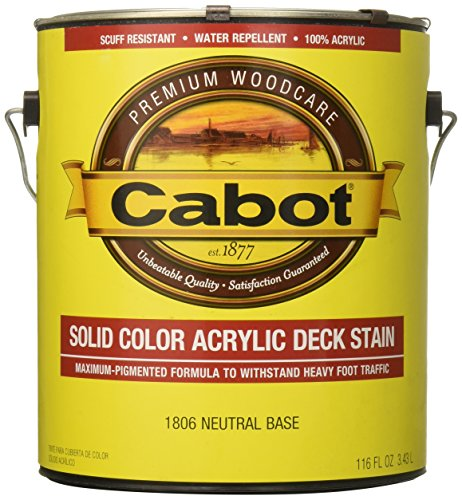 Cabot 1806-07 Decking Stain, 1 Gallon, Neutral Bas