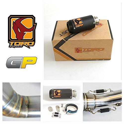 Toro T1 GP Matt Carbon Auspuff Kit kompatibel mit Kawasaki Z750 2004-2006