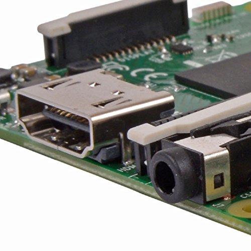 Raspberry PI 3 Model B Scheda madre CPU 1.2 GHz Quad Core, 1 GB RAM, 802.11n Wireless LAN, Verde/Argento
