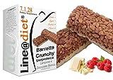 BARRETTE CRUNCHY PROTEICHE Line@diet - ZERO ZUCCHERI con 15 gr di PROTEINE / 4 gr di CARBOIDRATI! Ideali per DIETA PROTEICA (5 Crunchy Lampone)