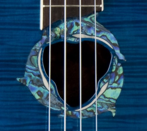 Luna Fauna Series Dolphin Quilted Maple Concert Ukulele