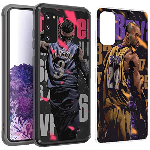 PICAVINCI SwitchME Galaxy S20 Case, Cool Basketball Star Black Clear Matte Hybrid Protective Cover
