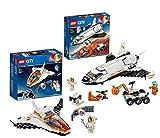 LEGO 60226 City Mars 60224 - Juego de construcción de telescopios de City Mars