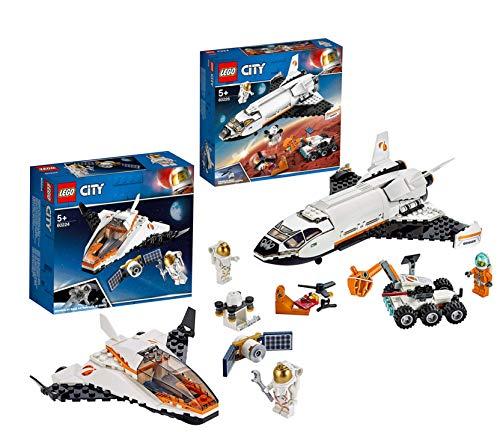 LEGO 60226 - City Mars-Forschungsshuttle, Bauset 60224 - City Satelliten-Wartungsmission, Bauset
