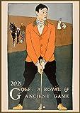 "Wall Calendar 2021 [12 pages 8""x11""] Golf Player Vintage Sport Ads Poster Advert"