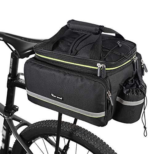 Lixada Fahrradtasche, Gepäcktasche Gepäckträger Tasche Fahrrad Sitz Tasche Trunk Bag, Rucksack, Handtasche, Umhängetasche, 20L-35L, 38 x 26 x 24cm