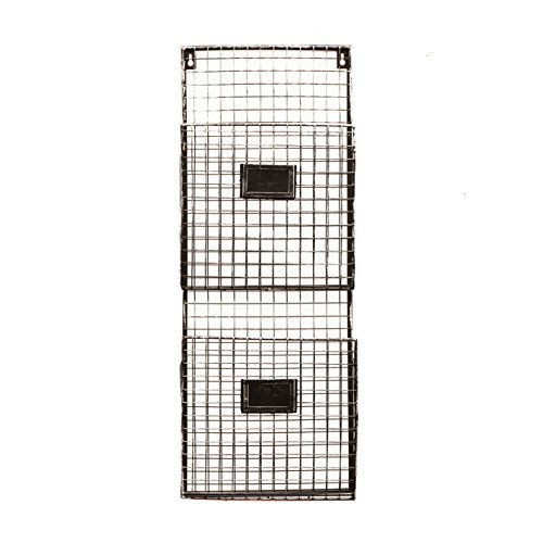 Pewter Metal Wall Double File Holder by Designstyles