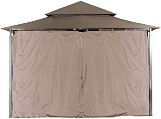 ABCCANOPY L-GZ136PST Gazebo Replacement Privacy Wall for 10'x10' Gazebo (Brown)