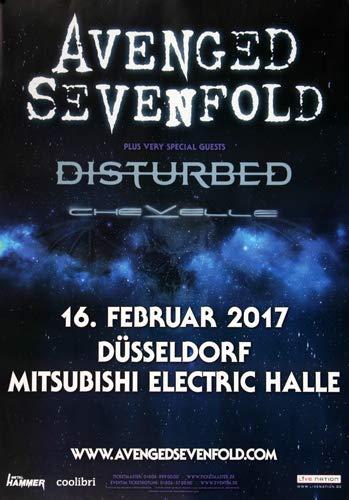 Avenged Sevenfold - The Stage, Düsseldorf 2017 » Konzertplakat/Premium Poster   Live Konzert Veranstaltung   DIN A1 «