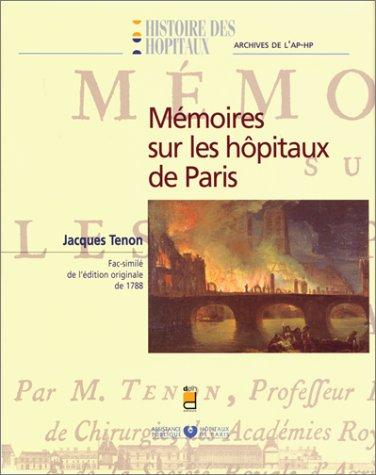 Mémoires sur les hôpitaux de Paris