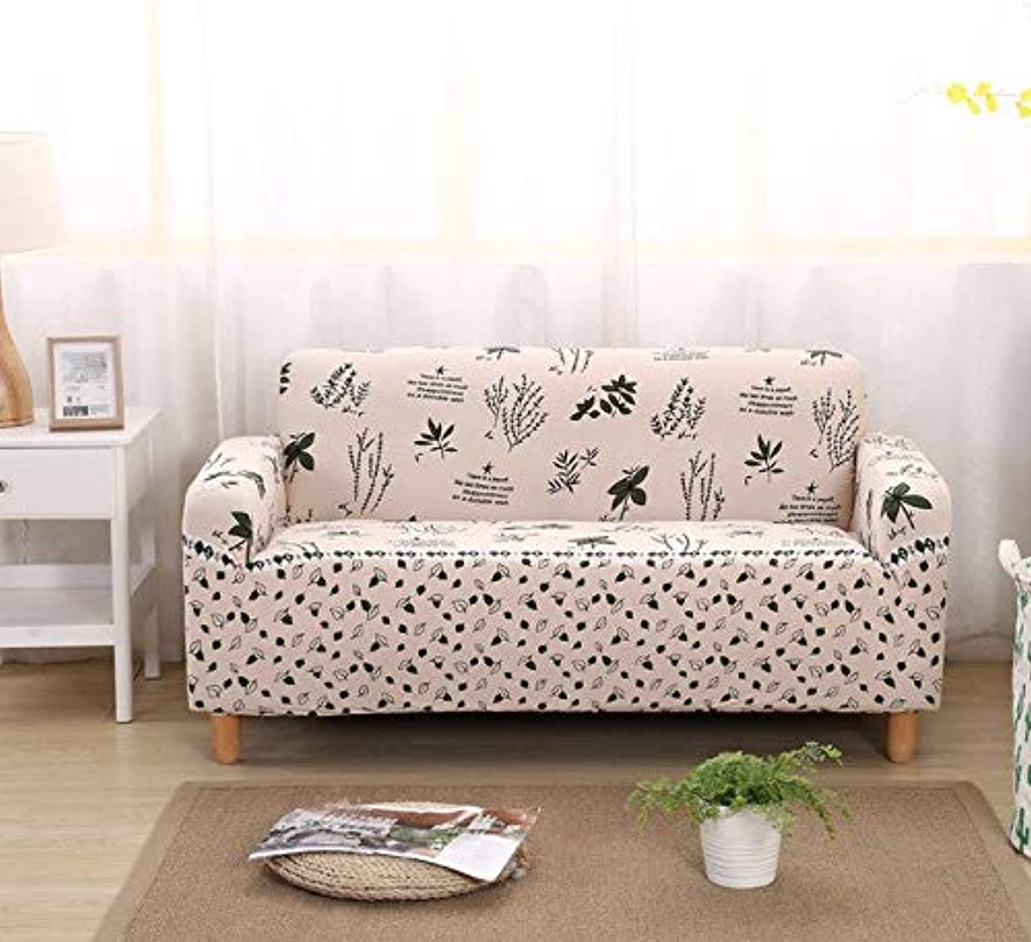 Elastic Sofa Covers for Living Room Sofa Towel Slip-Resistant Sofa Cover Strech Sofa Slipcover 1 2 3 4 Seater   colour10, Two-Seater