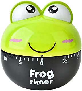 Gotian Stainless Steel Frog 1-60 Minutes Kitchen Timer Cartoon Animal Timers Mechanical Kitchen Cooking Timer Manual Timer...