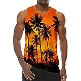 Sylar Camisetas Tirantes Chaleco De Playa para Hombre Casual Camiseta De 3D Impreso Sin Mangas Camisetas Hombre Originales Cuello Redondo Chaleco Blusa Tops Hawaiana Hombre