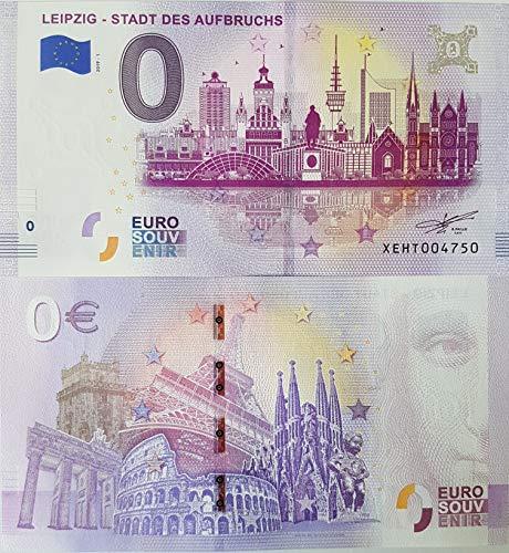 0 Euro Schein Leipzig - Stadt des Aufbruchs (2019-1) - Null Euro € Souvenirschein Banknote