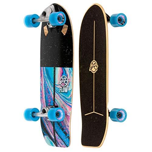 FLOW Surf Skates Stub 73,7 cm Surf Skateboard mit Carving Truck