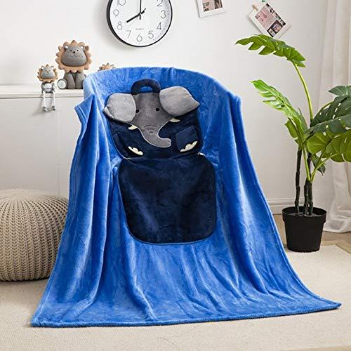 Reisedecke Weiche 2-in-1 Flugzeugdecke 2-in-1-Kissen Decken Mehrzweckkristall Velvet Karikatur Faltbare Patchwork-Kissen for Auto-Schlafsofa GCSQF1023 (Color : 02)