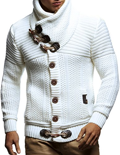 Leif-Nelson-Mens-Knitted-Cardigan-Long-sleeved-slim-fit-hoodie-Stylish-button-up-cardigan-with-shawl-collar-for-Men
