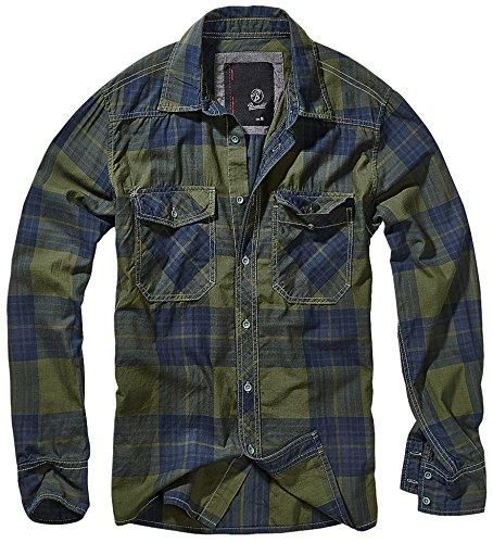 Brandit Checkshirt Hemd Grün/Blau XXL