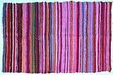 Guru-Shop Alfombra Ligera Patchwork, Manta Patchwork 100x160 cm, de Color Rosa, Algodón, Color: de Color Rosa, Alfombras y...