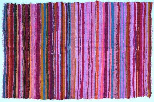 Guru-Shop Alfombra de Patchwork Ligera, Acolchado de Patchwork 100x160 cm - Rosa-multi, Púrpura, Algodón, Alfombras y Alfombrillas