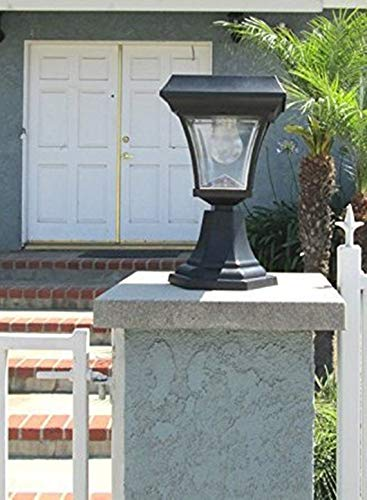 Exquisite Selebrity Ultra Bright 4 LEDs Solar Fence Gate Lamp Post Light