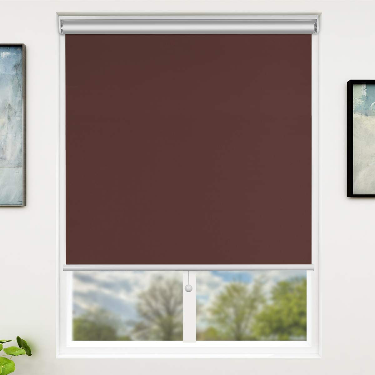 SUNFREE Mocha Blackout Max 43% OFF Window Cordless Blinds Cheap with Shades